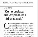 Denis Zanini no Jornal Maceió, Março 2012